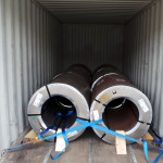 steel coils stuffed in containers