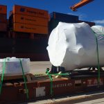 project cargo shipped on flat rack containers