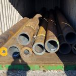 prime new seamless steel tubes in a container