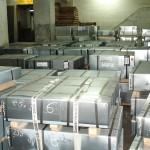 electrolitic tinplate sheets stored in port of Rijeka